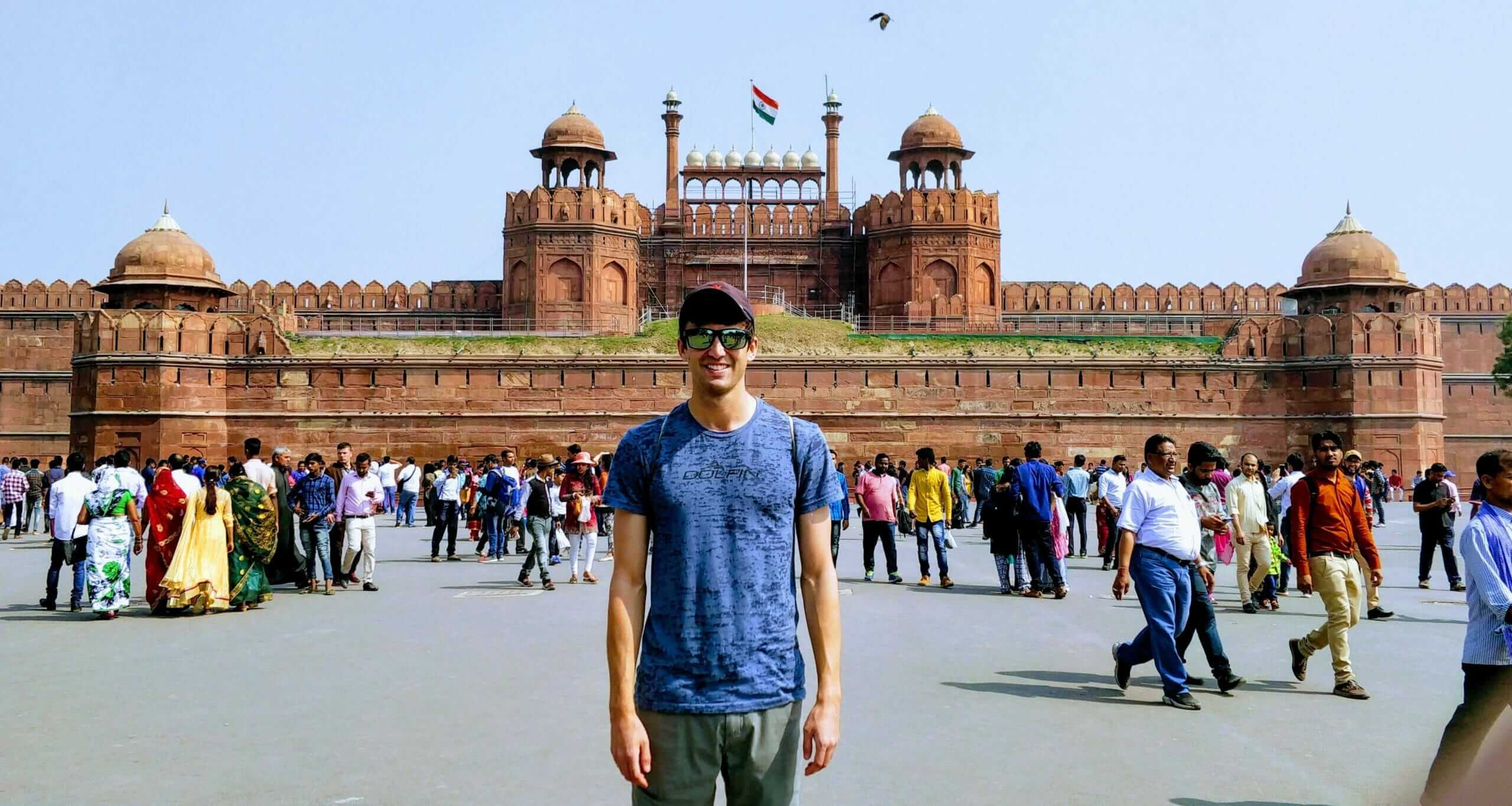 While backpacking Delhi, I saw many sites including the historic Red Fort
