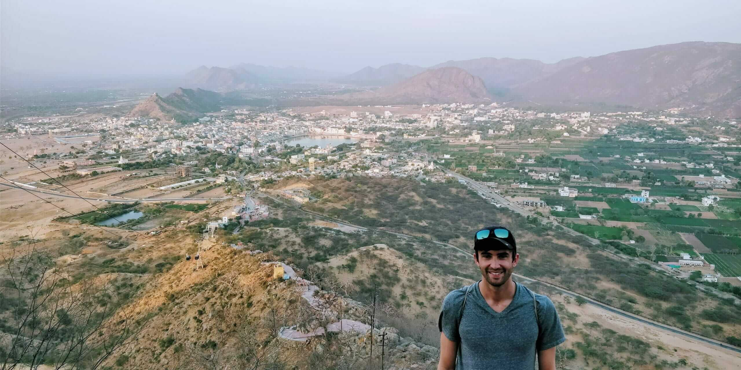 View of Pushkar, India from Savitri Mata Temple