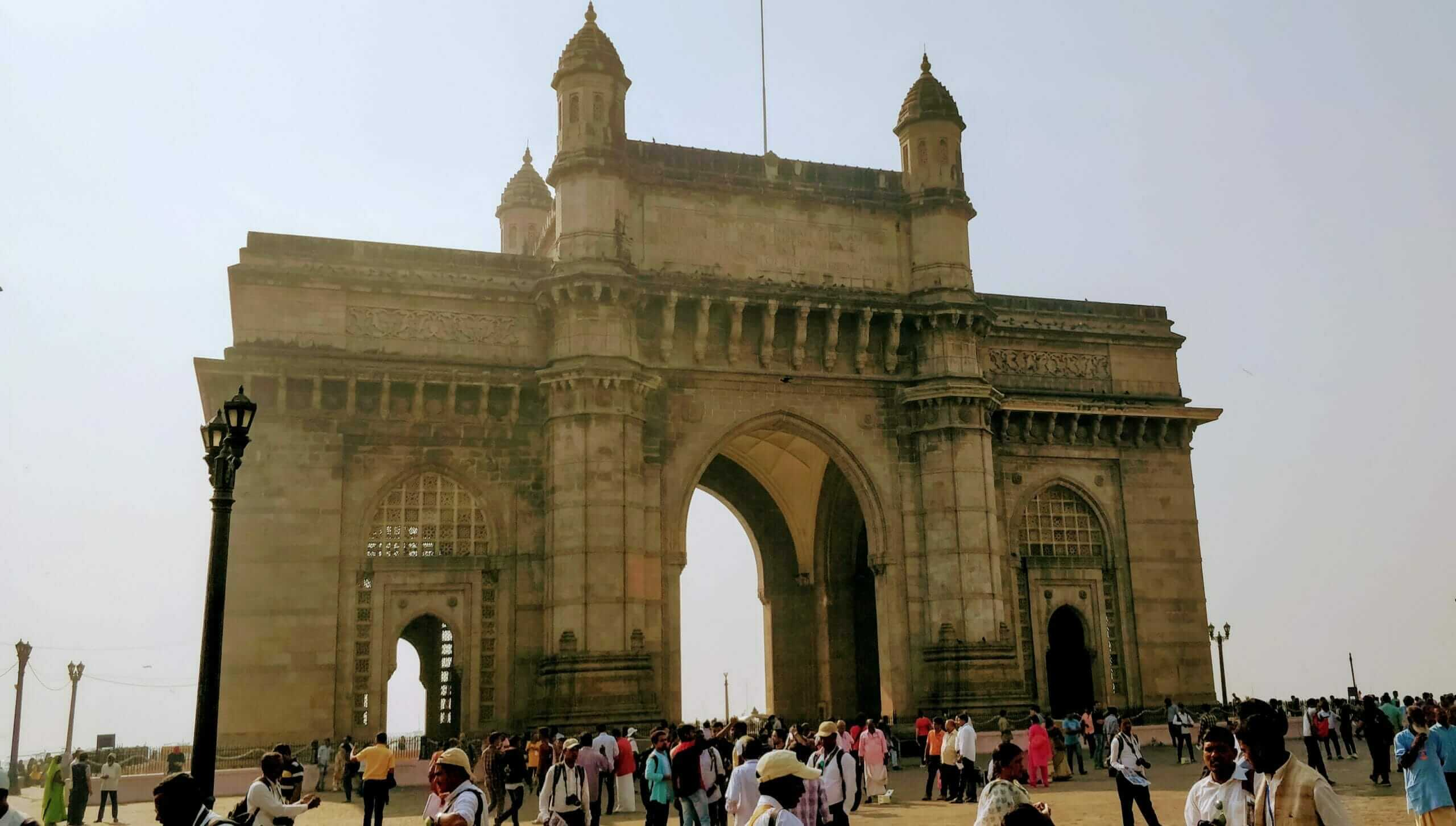 The Gateway of India in Mumbai was built by the British during their rule over India