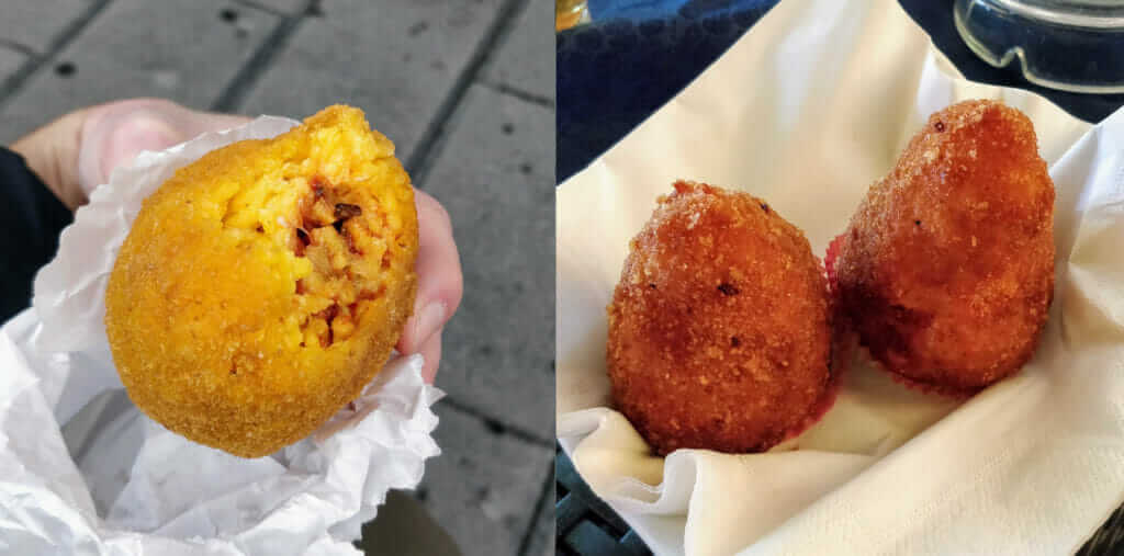 Arancini are Sicilian rice balls where Arancina are from east Sicily and Arancino are from west Sicily