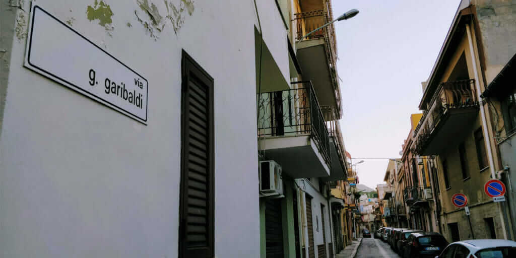 Via Setaioli was renamed to Via Giuseppe Garibaldi in Capaci