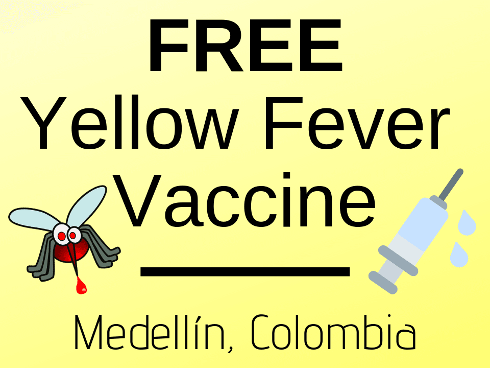 Free yellow fever vaccine Medellín