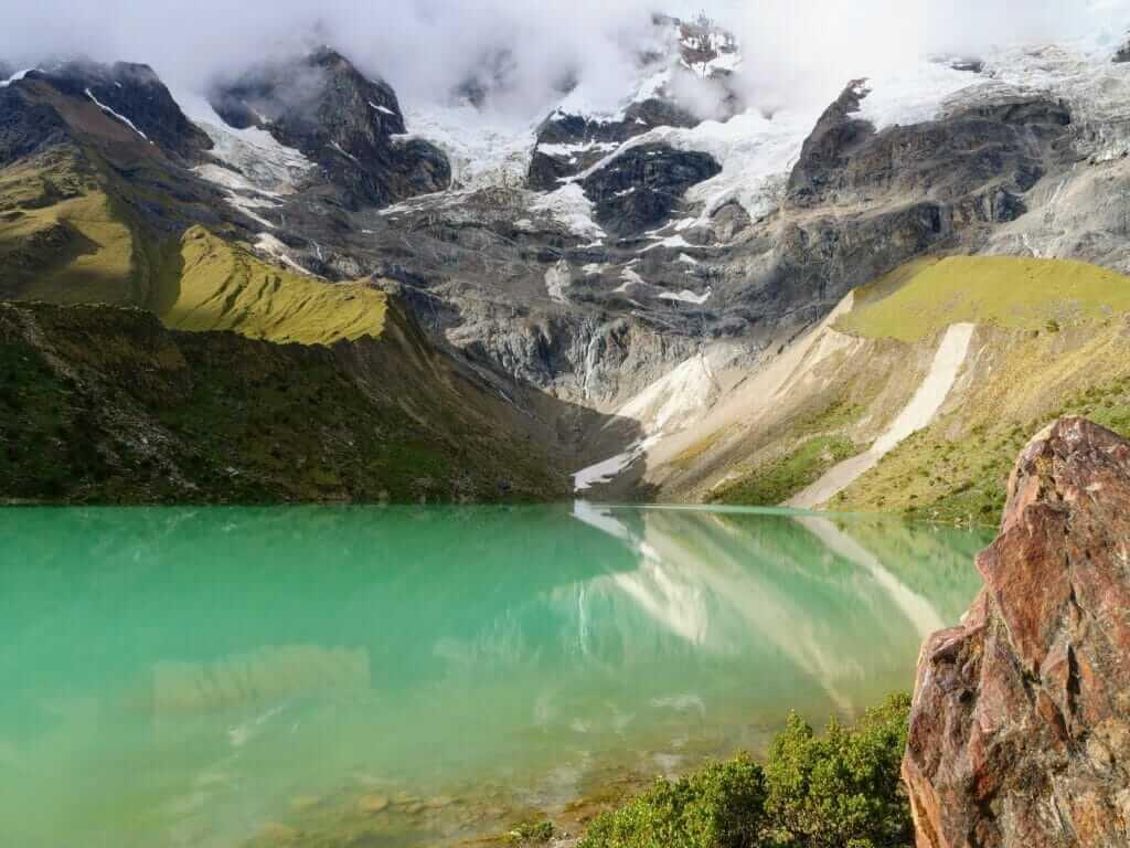 Humantay Lake in Peru during the Salkantay trek