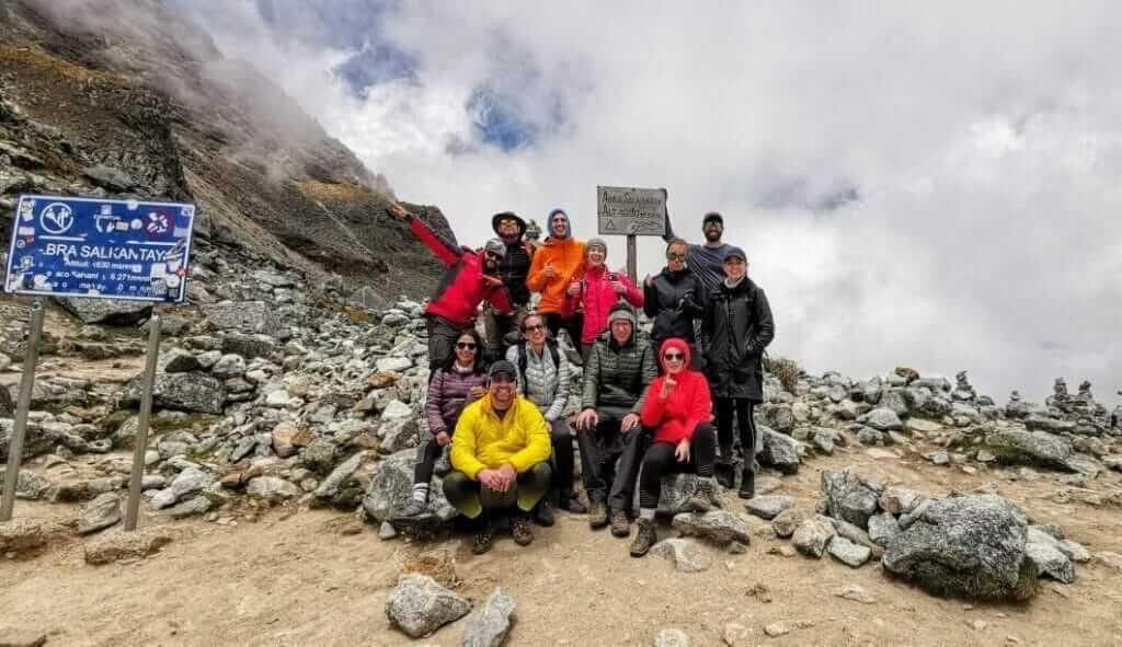 Salkantay trek highest point