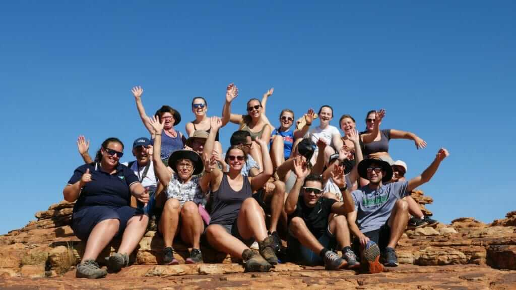 Tony Florida and his Groovy Grape Tour Group in Australia