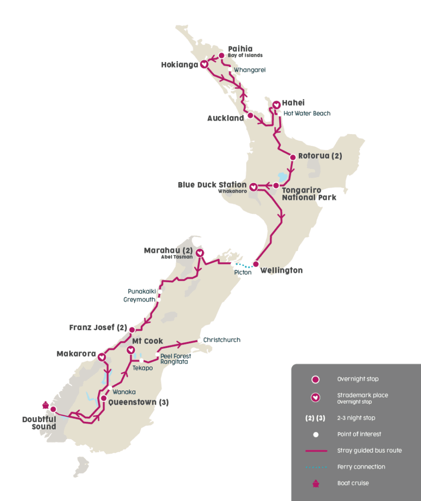 New Zealand itinerary with Stray Travel tours