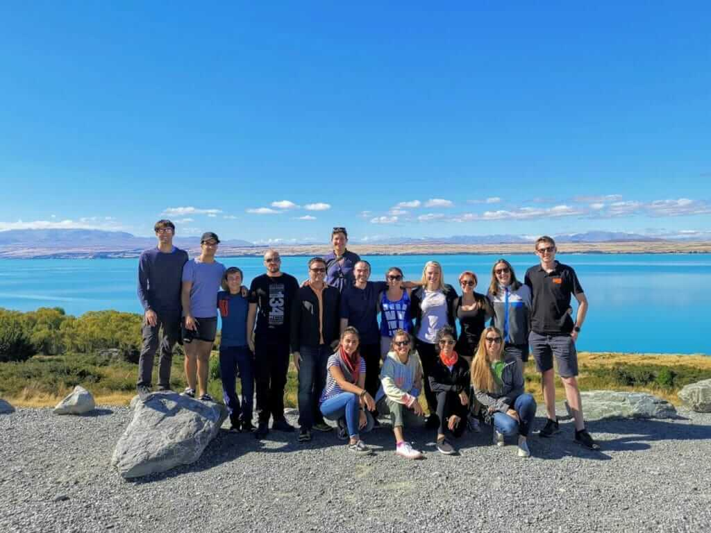 Stray Travel tour group in New Zealand