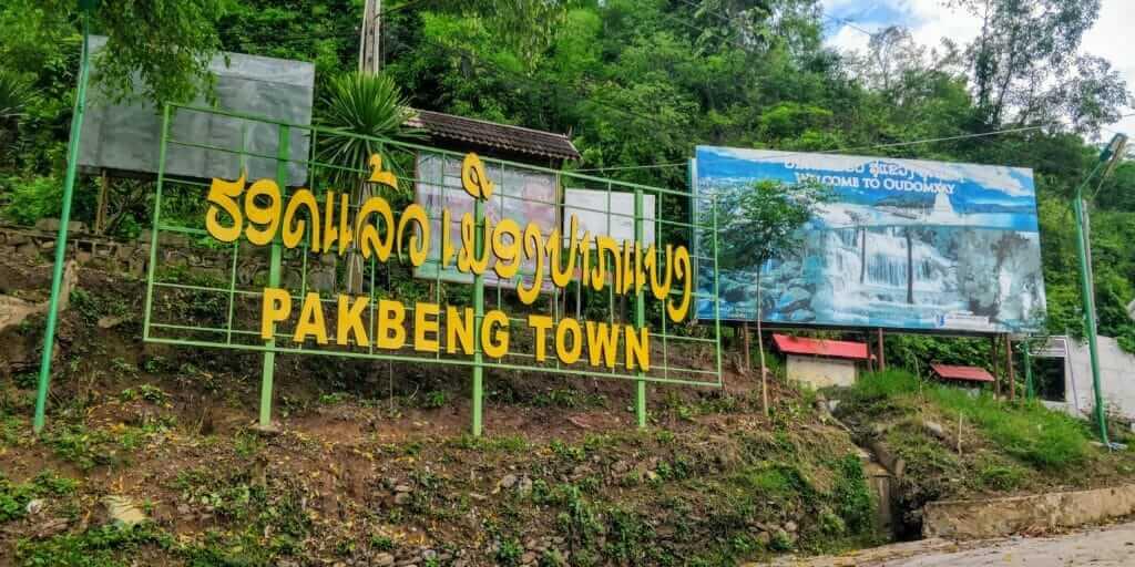 Pak Beng, Laos welcome sign