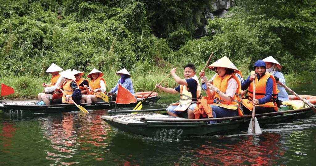 Trang An boat ride in Ninh Binh, Vietnam