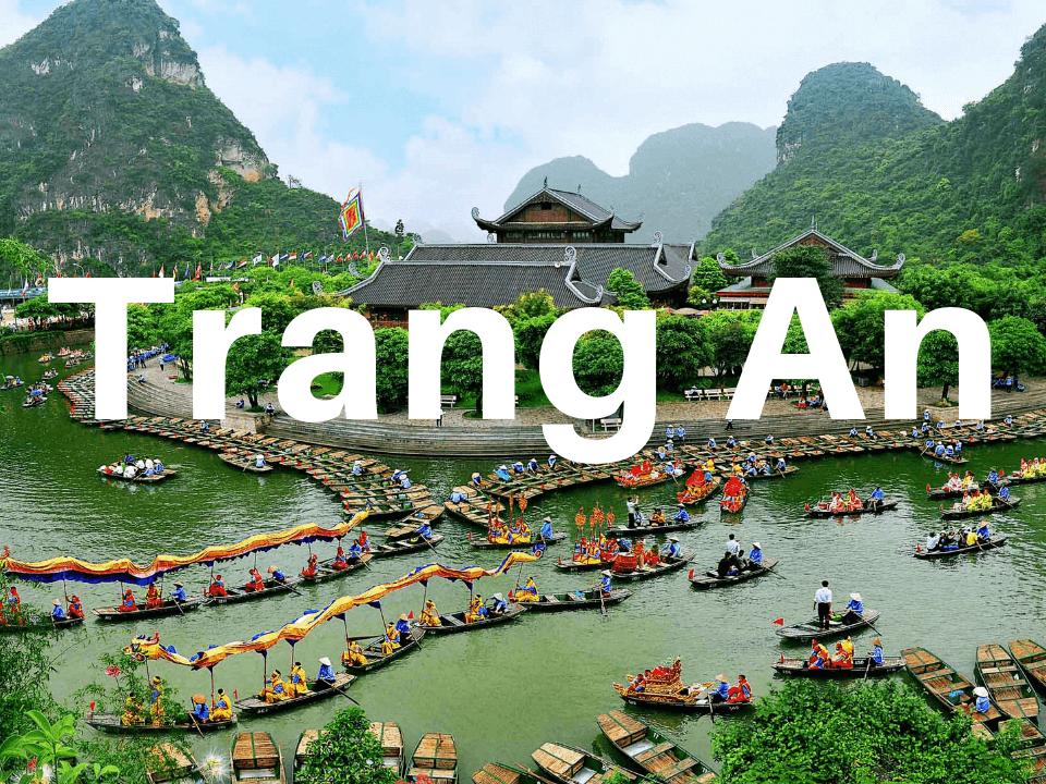 Trang An boat tour in Ninh Binh, Vietnam