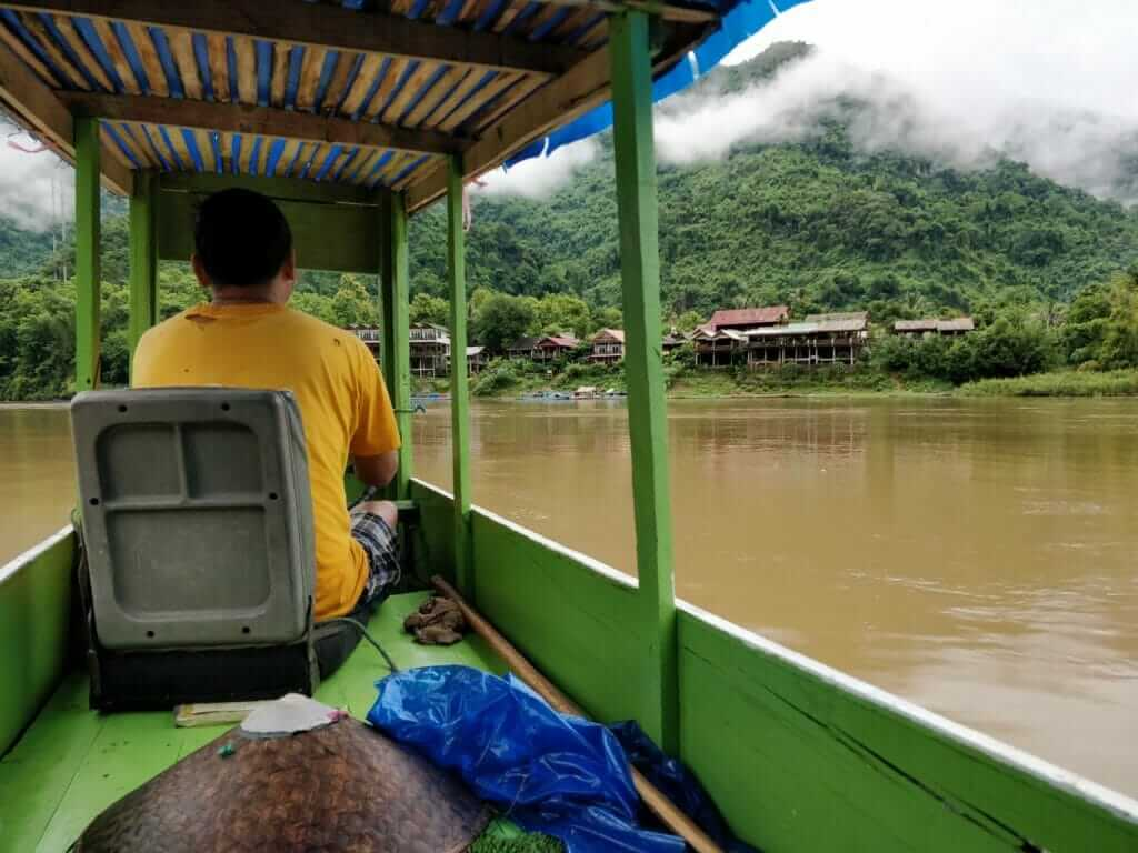 Slow boat to Muang Ngoy in Laos