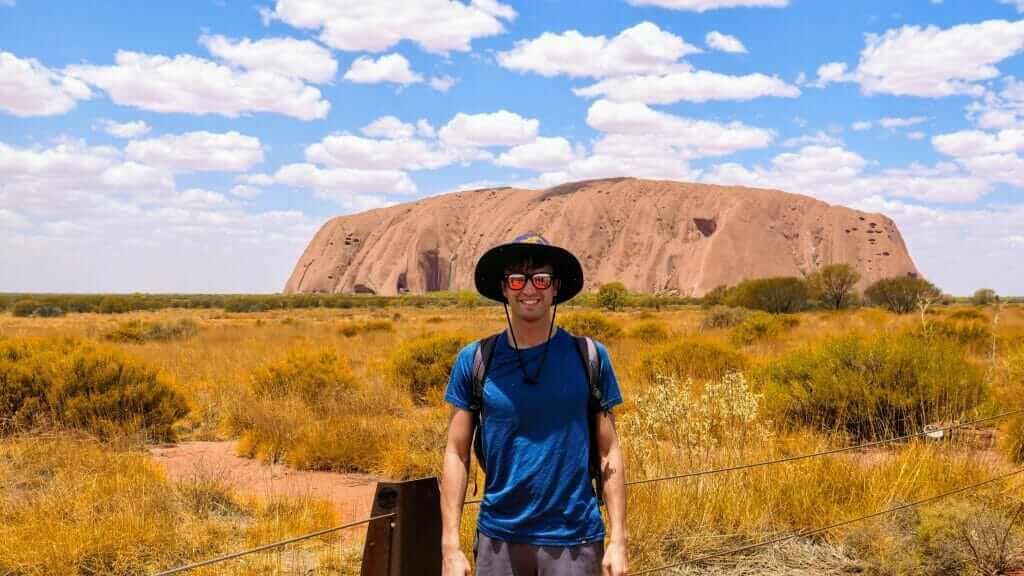 Tony traveling in Australia's red center at Uluru